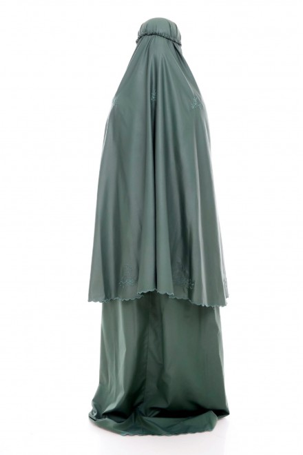 Telekung Cotton Pastel_Emerald Green
